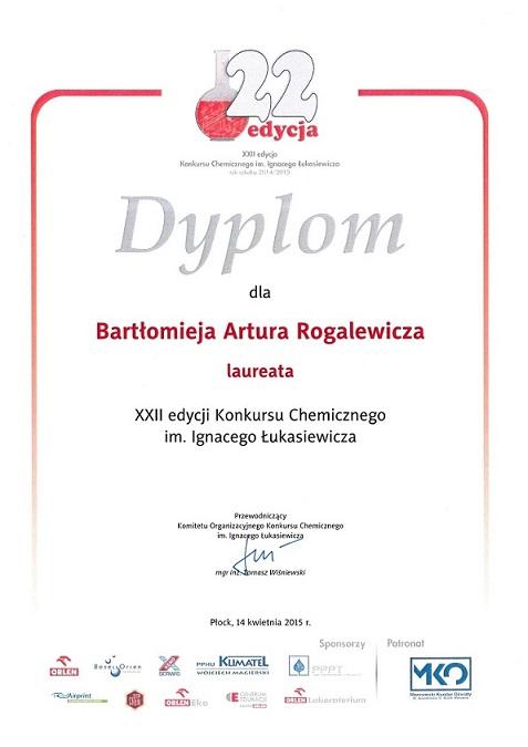 Konkurs chemiczny - Bartłomiej Rogalewicz IŁ