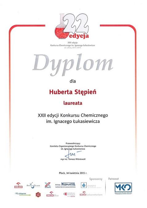 Konkurs chemiczny - Hubert Stępień IŁ